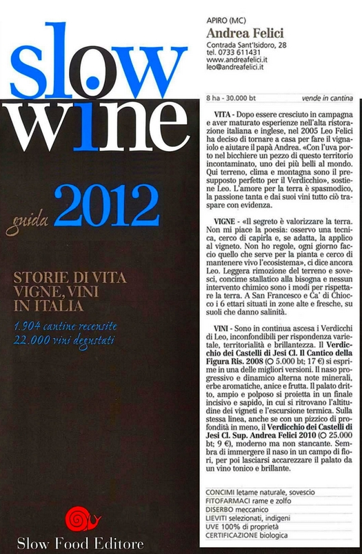 Andrea Felici : Slow wine guide 2012