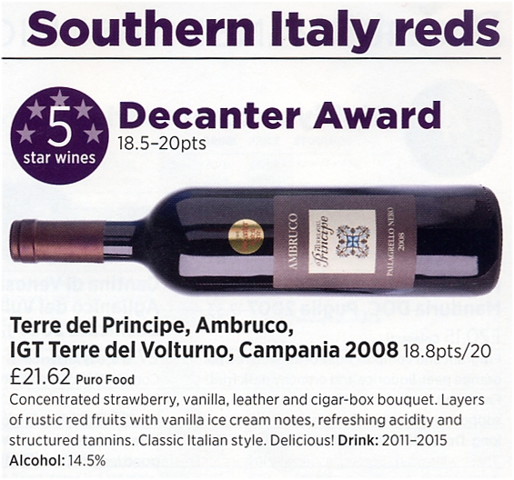Ambruco 2008 - Decanter Award