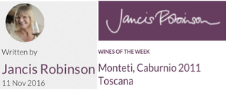 Caburnio 2011 – wine of the week by Jancis Robinson