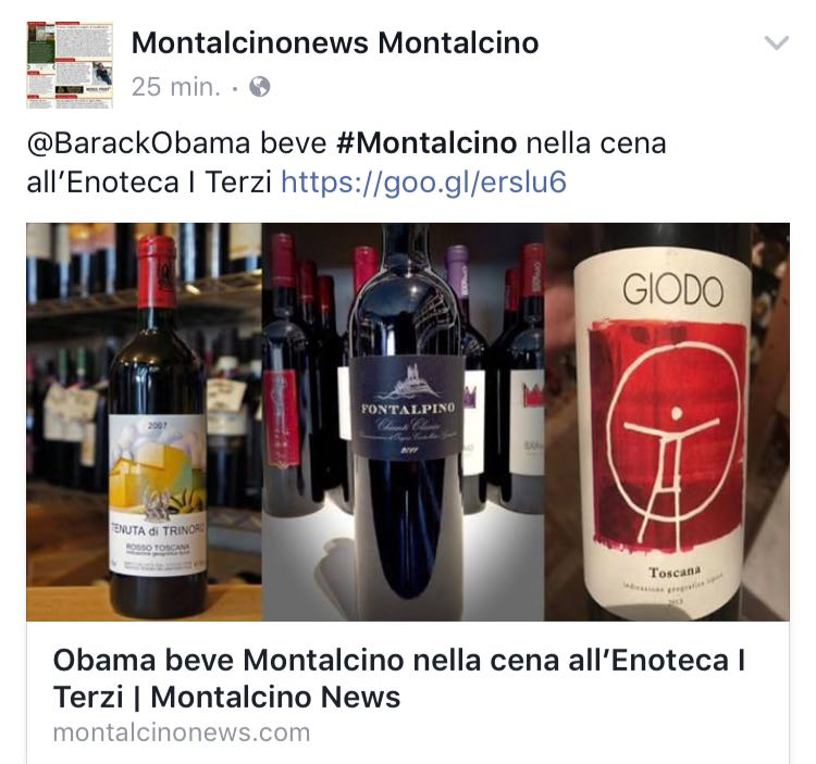 What Obama is drinking in Siena ?